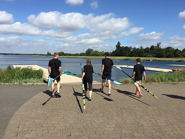 corporate rowing day with olympic rower